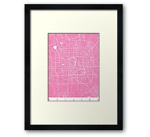 Beijing map pink Framed Print