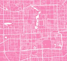 Beijing map pink Sticker