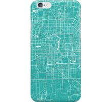 Beijing map turquoise iPhone Case/Skin