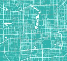 Beijing map turquoise Sticker