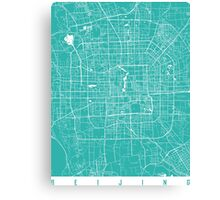 Beijing map turquoise Canvas Print