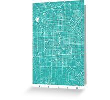 Beijing map turquoise Greeting Card