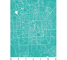 Beijing map turquoise Photographic Print