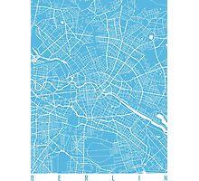 Berlin map blue Photographic Print
