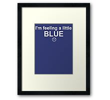Feelings: Blue Framed Print