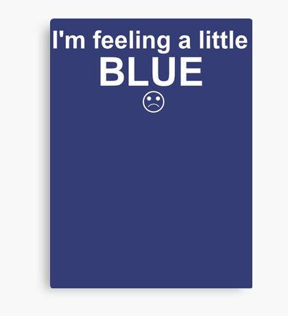 Feelings: Blue Canvas Print