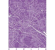 Berlin map lilac Photographic Print