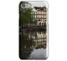 Amsterdam Canal Houses in the Rain iPhone Case/Skin