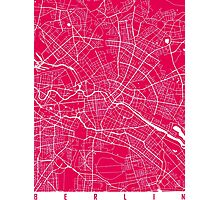 Berlin map raspberry Photographic Print