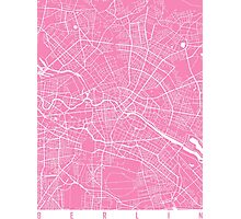 Berlin map pink Photographic Print