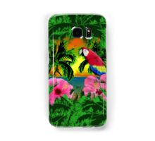 Palm Trees And Island Sunsets Samsung Galaxy Case/Skin