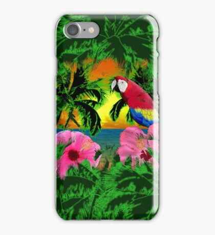 Palm Trees And Island Sunsets iPhone Case/Skin