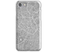 Birmingham map grey iPhone Case/Skin