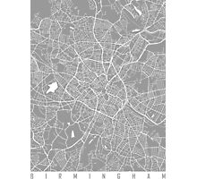 Birmingham map grey Photographic Print