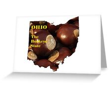Ohio Map with State Nickname:  The Buckeye State Greeting Card