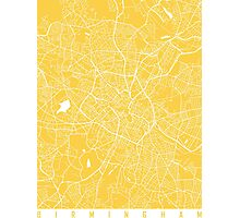Birmingham map yellow Photographic Print