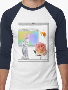 Rose vaporwave Aesthetics Men's Baseball ¾ T-Shirt