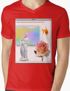 Rose vaporwave Aesthetics Mens V-Neck T-Shirt