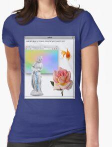 Rose vaporwave Aesthetics Womens Fitted T-Shirt