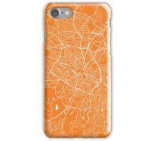 Birmingham map orange iPhone Case/Skin