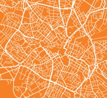 Birmingham map orange Sticker