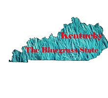 Kentucky Map with State Nickname:  The Bluegrass State by Havocgirl