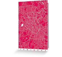 Birmingham map raspberry Greeting Card