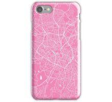 Birmingham map pink iPhone Case/Skin