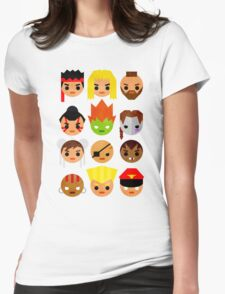 Street Fighter 2 Mini Womens Fitted T-Shirt