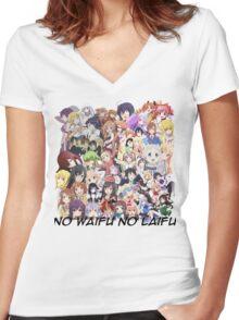 No Waifu No Laifu [BETA] Women's Fitted V-Neck T-Shirt