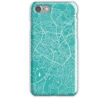 Birmingham map turquoise iPhone Case/Skin