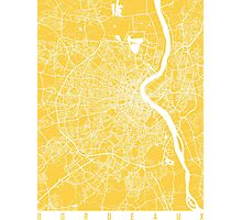 Bordeaux map yellow Photographic Print