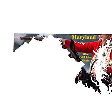 Maryland Map with State Nickname:  The Old Line State by Havocgirl