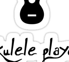 Ukulele Player Sticker