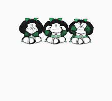 Mafalda The three Wise Monkeys Women's Fitted Scoop T-Shirt