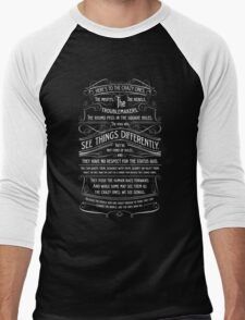 Here's To The Crazy Ones. Men's Baseball ¾ T-Shirt