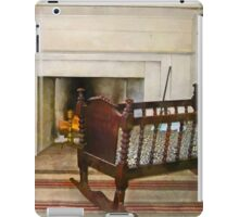 Cradle Near Fireplace iPad Case/Skin