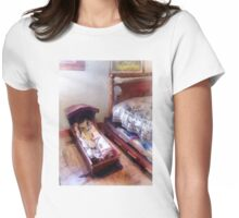 Cradle With Quilt Womens Fitted T-Shirt