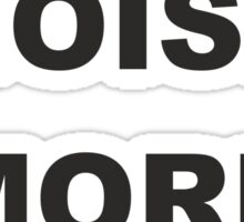 Less noise more music Sticker