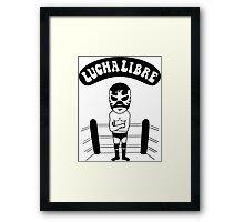 La Luchador Framed Print