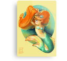 Ginger Mermaid Metal Print