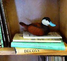 Duck Decoy on Bookshelf by Susan Savad