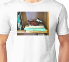 Duck Decoy on Bookshelf Unisex T-Shirt