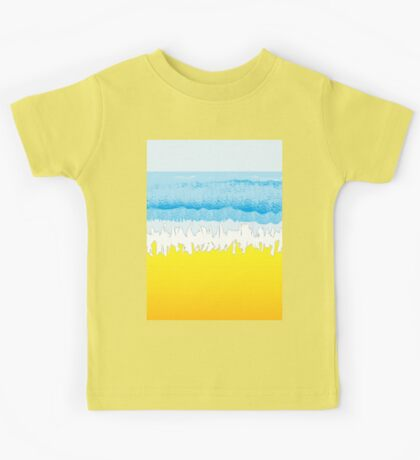 SURF, Beach, Sky, Sea, Ocean, Sand, Surfer, Surfing, Wave, Wave Riding, Body Boarding,  Kids Tee