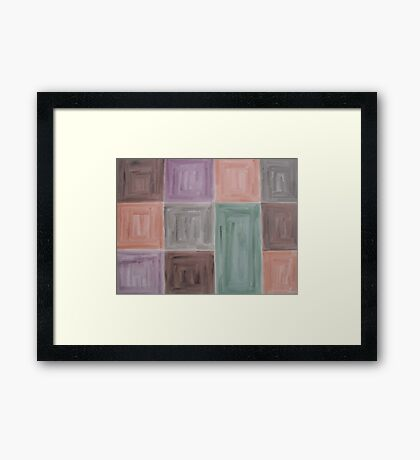 ABSTRACT 424 Framed Print