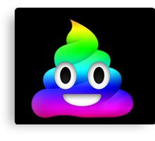 Rainbow Smiling Poop Emoji Canvas Print
