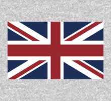 UNION JACK, Pure & Simple, Flag of the United Kingdom, Britain, British flag, Blighty One Piece - Long Sleeve