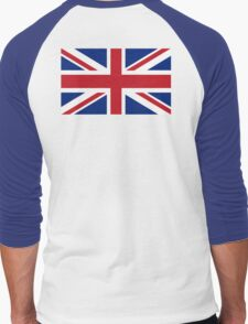 UNION JACK, Pure & Simple, Flag of the United Kingdom, Britain, British flag, Blighty Men's Baseball ¾ T-Shirt