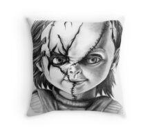Hi, I'm Chucky, wanna play? Throw Pillow