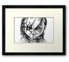Hi, I'm Chucky, wanna play? Framed Print